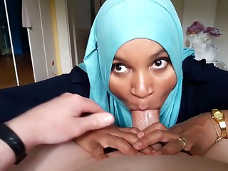 Arabic Hijab Teen Likes All round harmonize Blowjobs