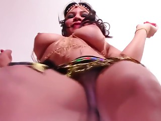 Wholly Nude Vitals Dance Busty Teen with Heaving Drapery Gut with the addition of Thick Labia