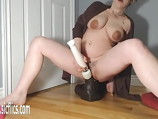 Gigantic BBC Dildo Pulling down Their way Pussy
