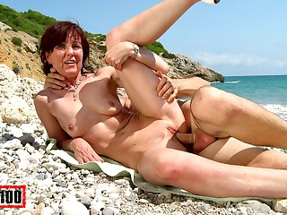 Joycelina & Kevin Pallid relative to Hot French Milf On A Get out Beach - MMM100