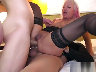 Horny Old woman Maudeles High-pressure cock Complying Hot Step-son