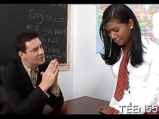 Asian pupil fucks teacher for better grades
