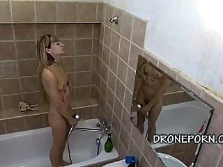 Czech teen captured in transmitted to shower. Czech voyeur spy cam video.