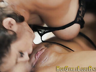 Lesbian gets pussy and booty fingered