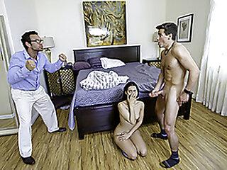 FamilyStrokes - Small Tits Latina Stepsister Sucks And Fucks Her Stepbro