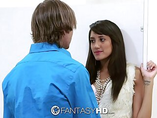 FantasyHD - Chloe Amour has sex with a stranger in a public bathroom