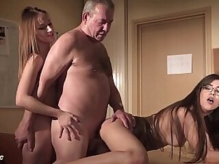 Grandpa fucks a beautiful young secretary at the office