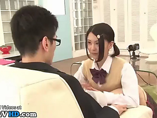 Japanese almost all cute college hotty bonks nerd boy
