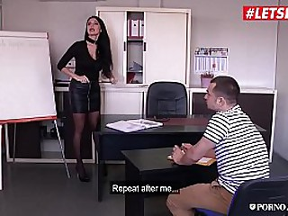 PORNO ACADEMIE - (Ania Kinski, Rick Angel & Tonio Charme) Hot MMF Anal Fun On School's Office